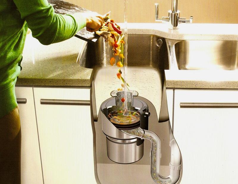 Установить измельчитель пищевых отходов