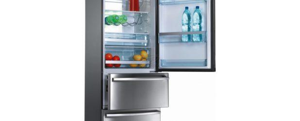внизу холодильника
