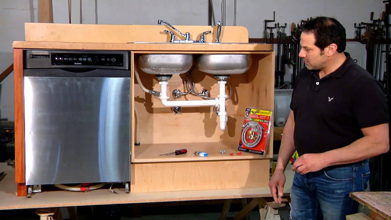 Как встроить посудомоечную машину своими руками