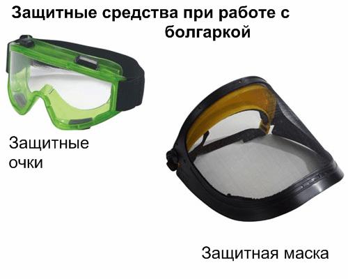 Защитные очки и защитная маска
