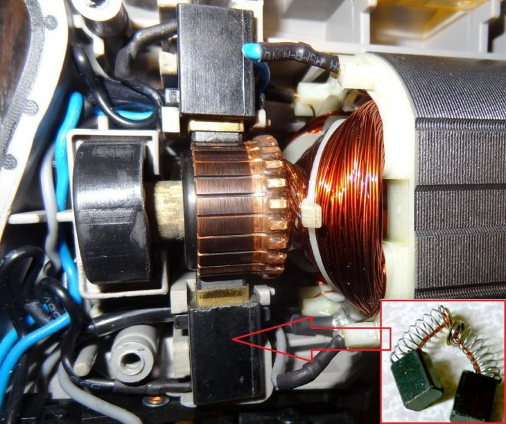 Электродвигатель перфоратора