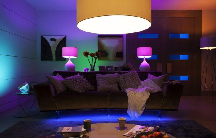 Лампочка «Philips Hue» в интерьере