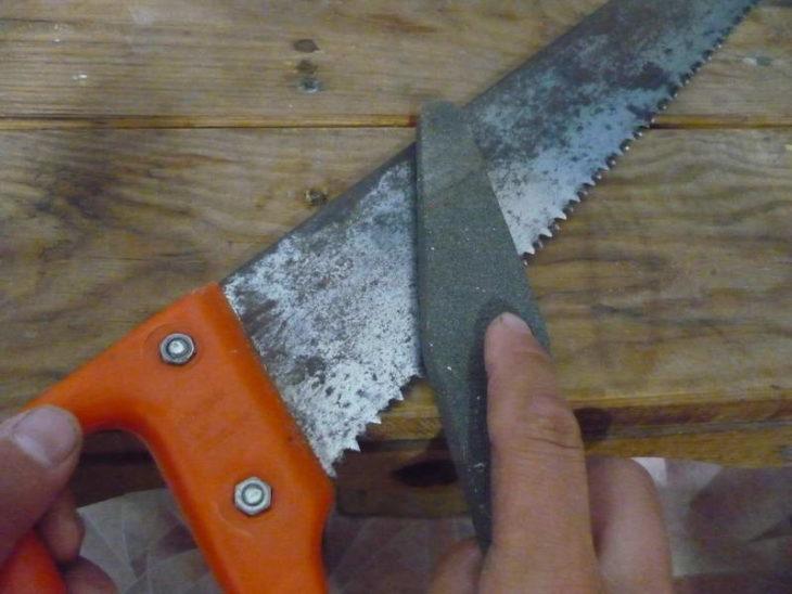 Заточка классической ножовки