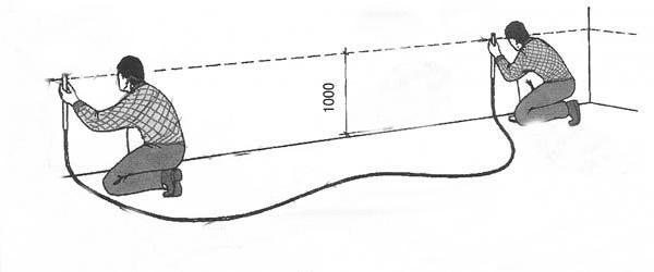 Определение уровней с помощью трубки