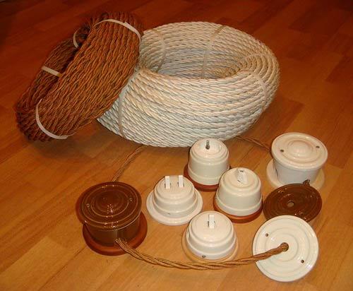 Декоративные провода для ретро-проводки