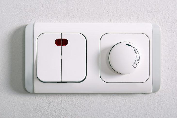 Диммер с выключателем