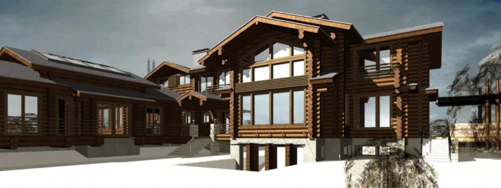 Дом со вторым светом из оцилиндрованного бревна