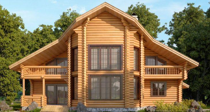 Деревяный дом со вторым светом