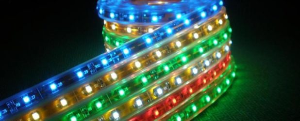 Многоцветная RGB светодиодная лента