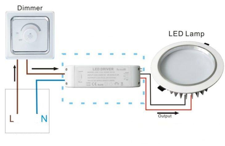 Подключение диммера для светодиодов