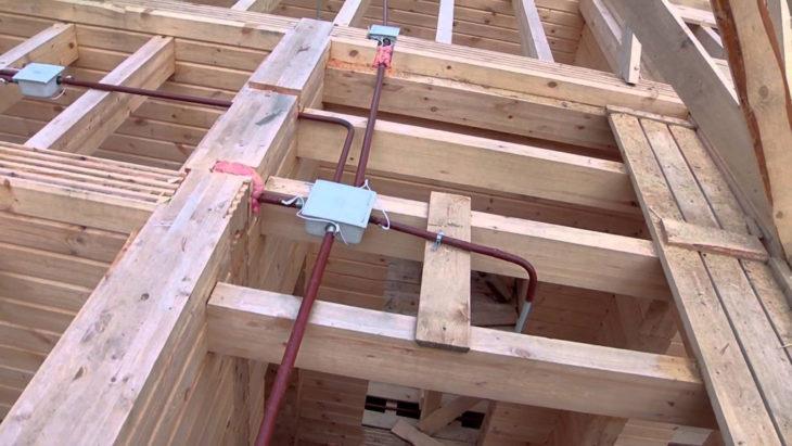 Прокладка проводки с помощи стальных труб