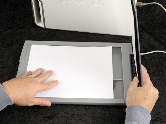 Расположение сканируемого изображения