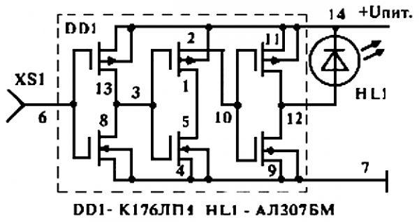 Схема двухэлементного детектора