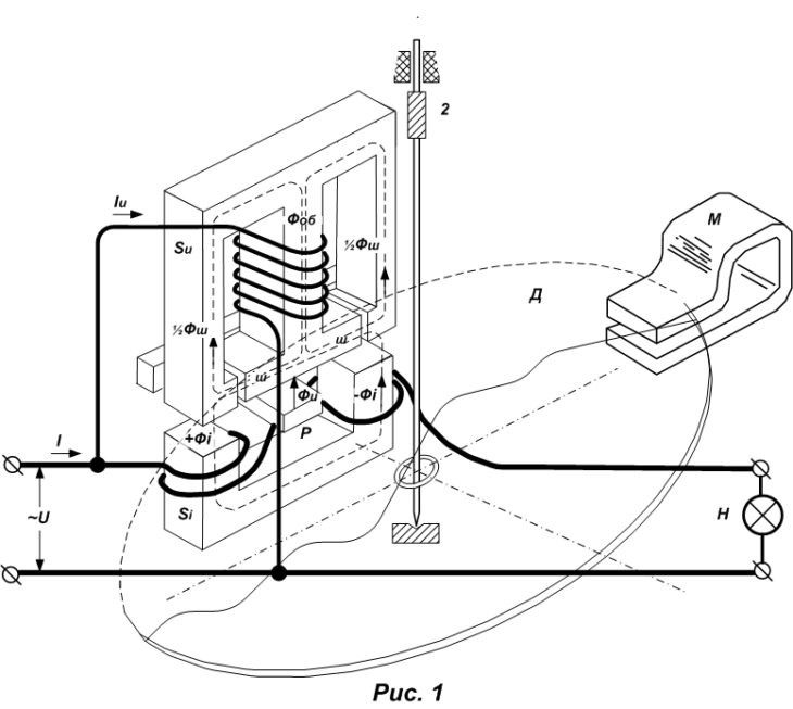 Схема индукционного счетчика