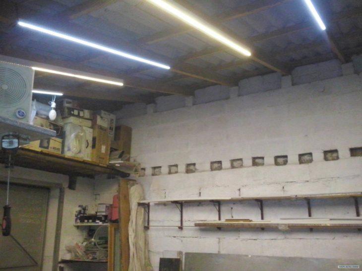 Светодиодное освещение в гараже