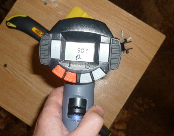 Технический фен с ЖК дисплеем