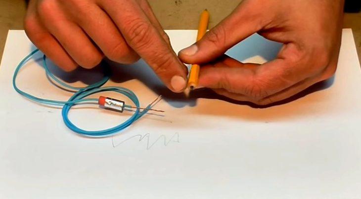 Подготовка провода и карандаша