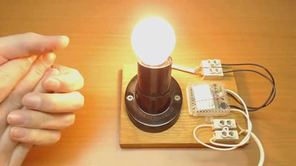 Как сделать чтобы свет включался хлопками