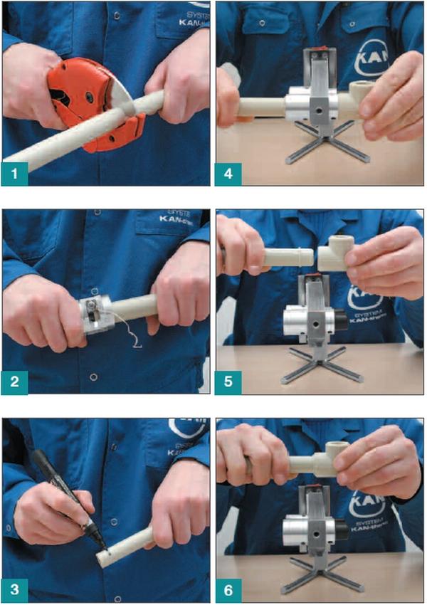 Подготовка полипропиленовой трубы к сварке