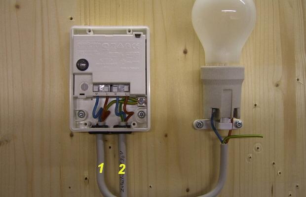 Пример подключения фотореле