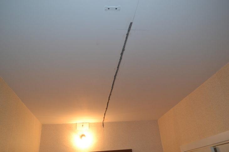 Штробы в потолке