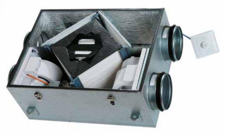 Рекуператор с вентиляторами