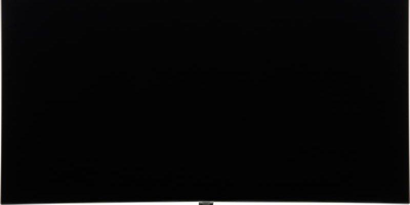 Черный монитор телевизора