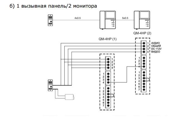 Вызывная панель схема подключения фото 830