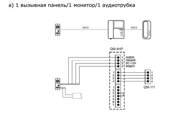 Домофон quantum схема подключения