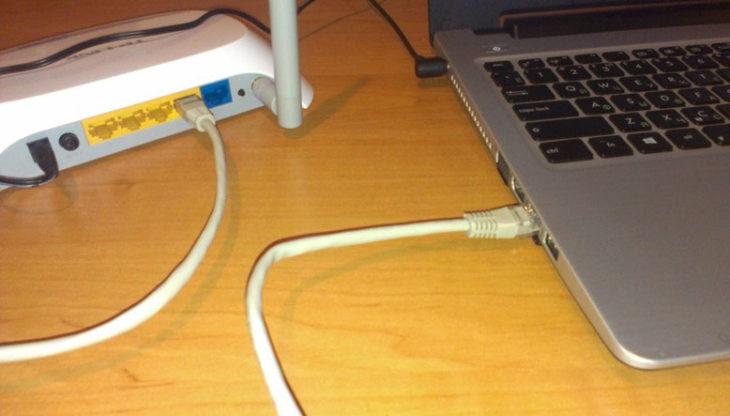 Подключение роутера к компьютеру при помощи кабеля