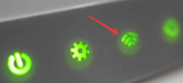 Индикатор сети Wi-Fi на роутере