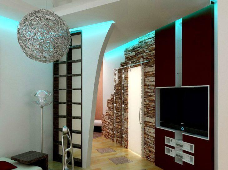 Декоративное освещение внутри дома