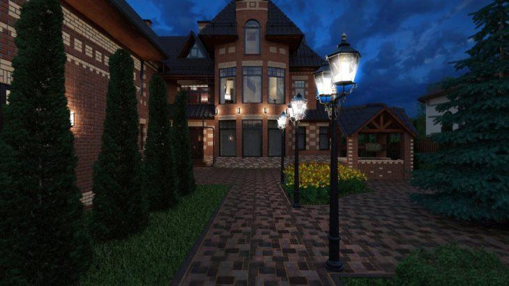 Функциональное освещение территории загородного дома