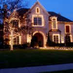 Контурная подсветка фасада