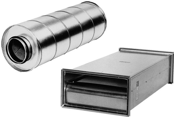 Трубчатый шумоглушитель: круглый и прямоугольный