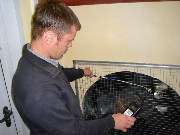 Проверка аэродинамики вентилятора