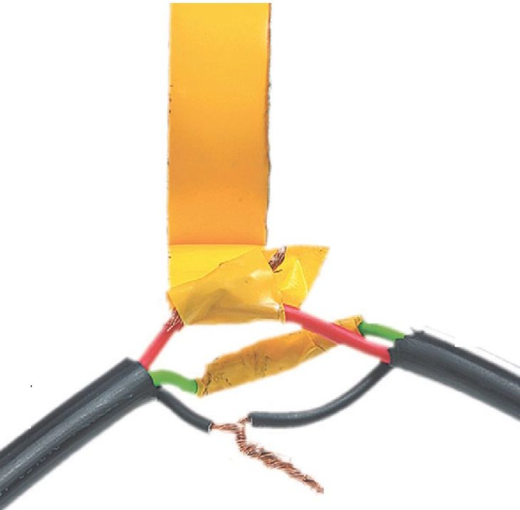 Соединение кабелей скруткой