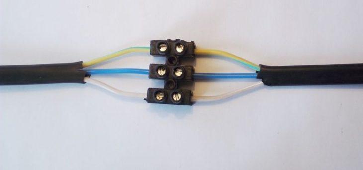 Соединение проводов на клеммниках