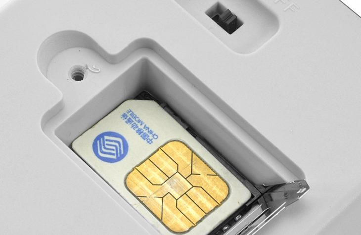 Установка сим-карты в GSM-розетку