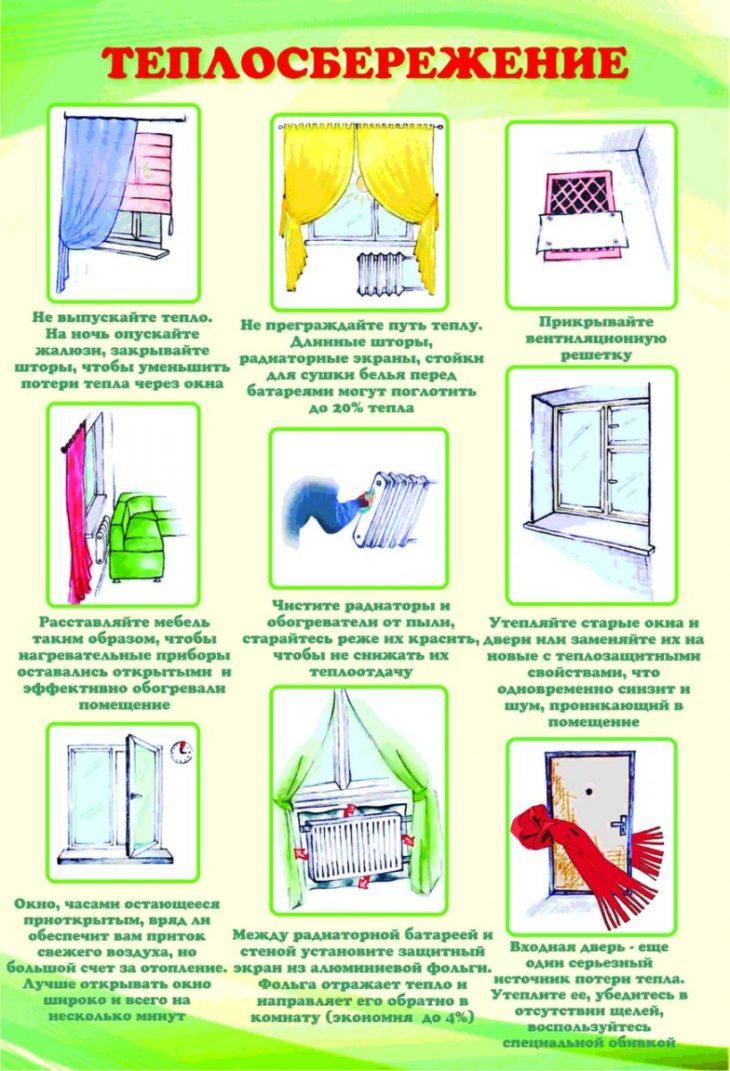 Советы по сбережению тепла в доме