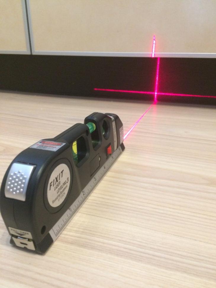 Применение лазерного уровня на полу