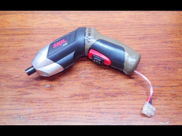 Переделка аккумуляторной отвёртки в сетевую
