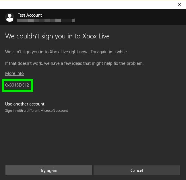 Ошибка регистрации в Xbox One