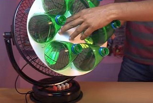 Крепление бутылок к вентилятору