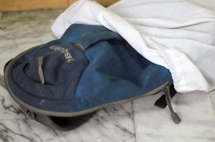Рюкзак в стиральном мешке