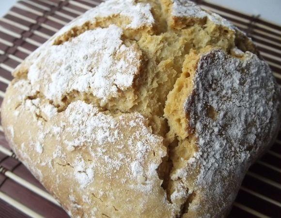 Готовый бездрожжевой хлеб