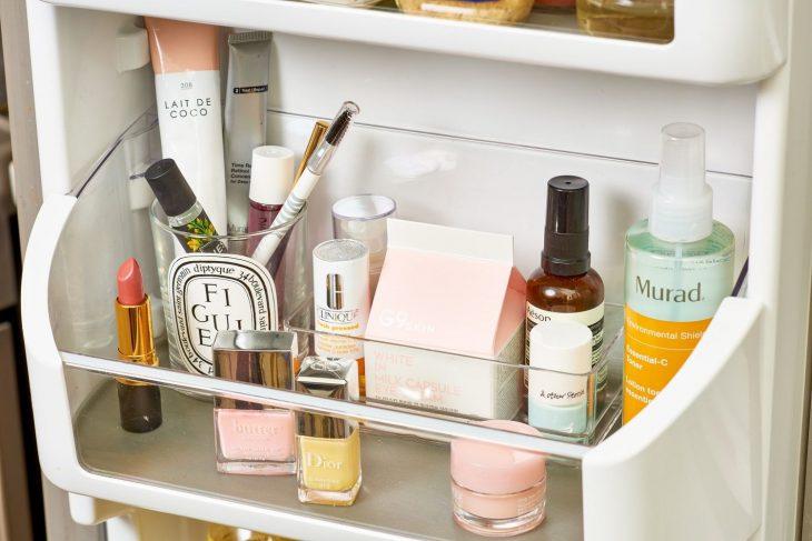 Косметика в холодильнике