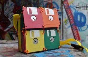 сумка из флоппи дискет