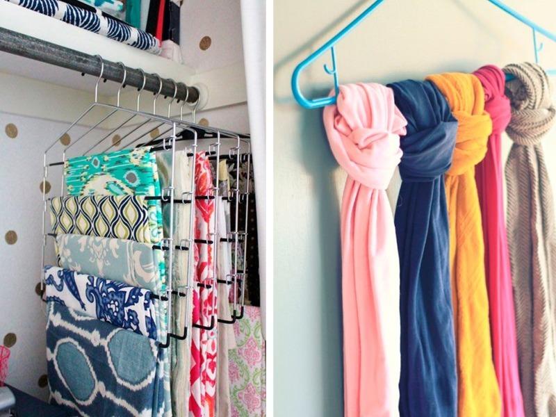 8 способов сэкономить место в шкафу, чтобы в нем все умещалось
