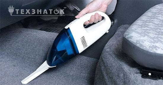 чистка салона авто пылесосом